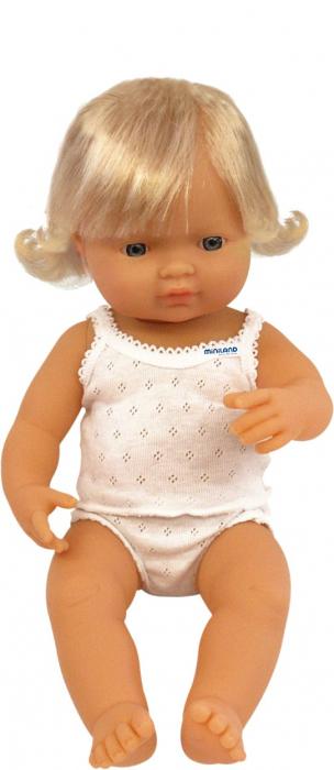 Papusa Baby european fata Miniland 38 cm [0]