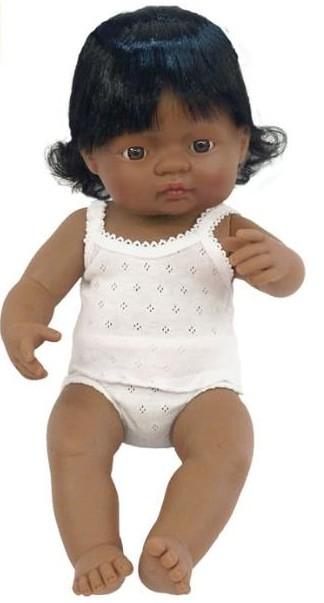 Papusa Baby hispanic fata Miniland  38 cm [0]