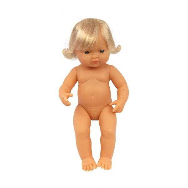 Papusa Bebelus european fetita Miniland 38 cm [0]