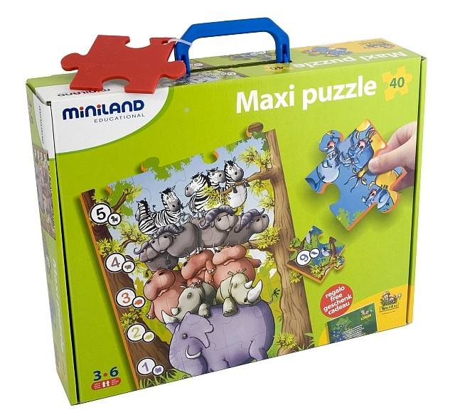 Puzzle de podea educativ cu numere Miniland 40 piese - Miniland [4]