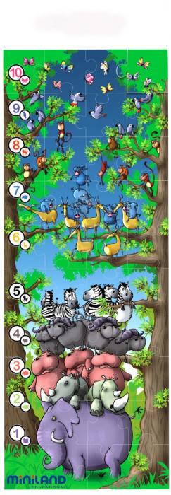 Puzzle de podea educativ cu numere Miniland 40 piese - Miniland [2]