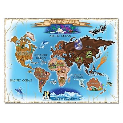 Puzzle harta lumii  World Map Melissa and Doug 500 piese [0]