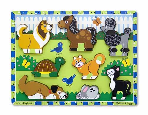 Puzzle in relief animale de companie Melissa and Doug [0]