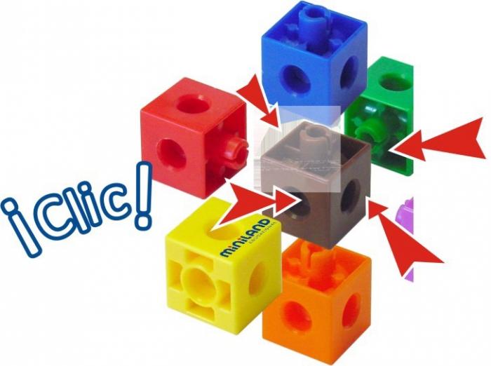 Set 100 cuburi 2 cm - Miniland [1]