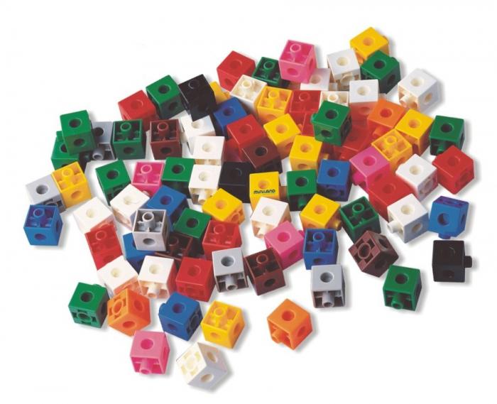Set 100 cuburi 2 cm - Miniland [2]