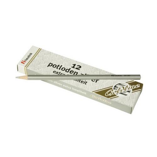 Set 12 creioane hexagonale Goldline Argintiu metalic  - Heutink [0]