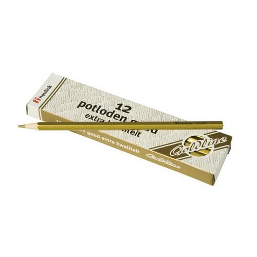 Set 12 creioane hexagonale Goldline Auriu metalic  - Heutink [0]