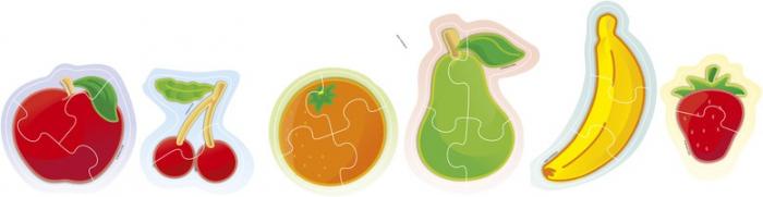 Set 6 puzzle Fructe - Miniland [2]