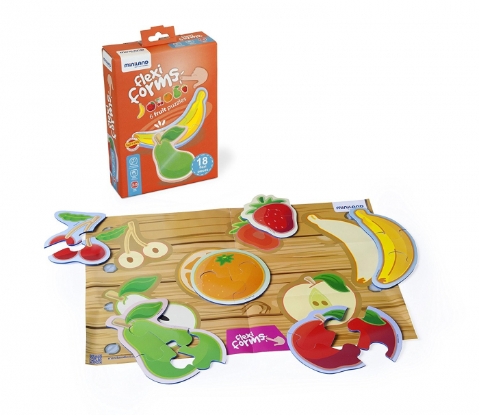Set 6 puzzle Fructe - Miniland [4]