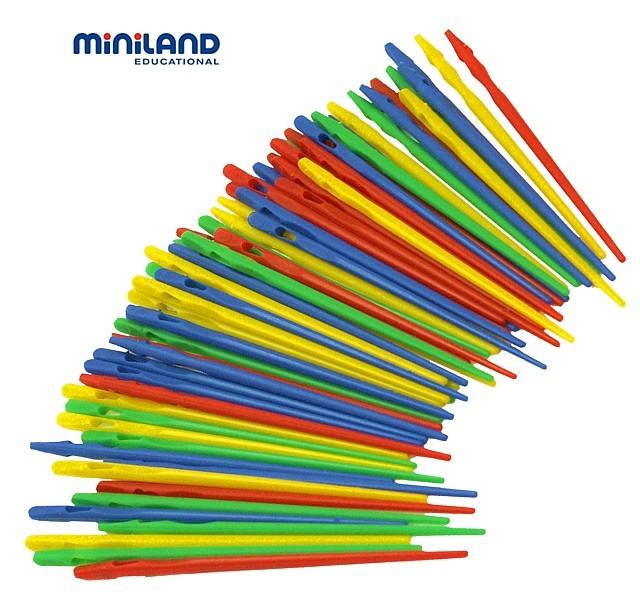 Set ace mari pentru insirat Miniland 100 buc [2]