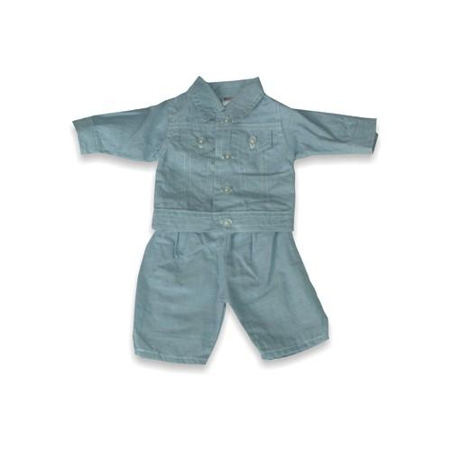 Set costum jeans pentru papusi Miniland 38-42 cm [0]