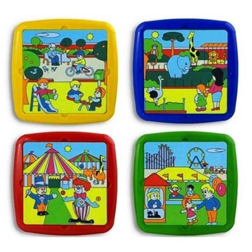 Set de 4 puzzle Timpul liber Miniland [0]