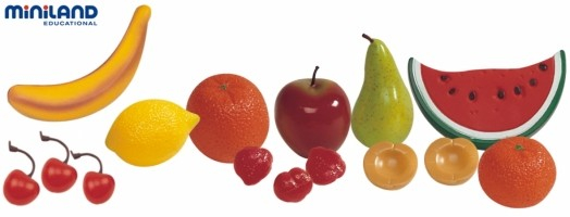 Set fructe din plastic Miniland 15 buc [0]