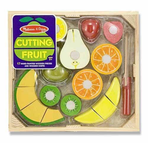 Set fructe lemn pentru taiat - Melissa & Doug [0]