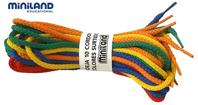 Set sireturi colorate Miniland 10 buc [0]