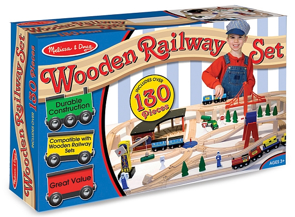 Set Trenulet din lemn cu depou Melissa and Doug [2]