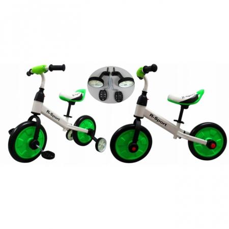 Bicicleta cu pedale si roti ajutatoare R-Sport P1- Verde [0]