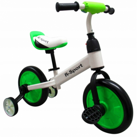 Bicicleta cu pedale si roti ajutatoare R-Sport P1- Verde [1]