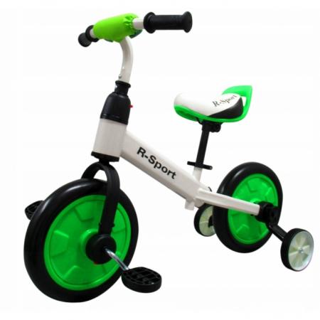 Bicicleta cu pedale si roti ajutatoare R-Sport P1- Verde [3]