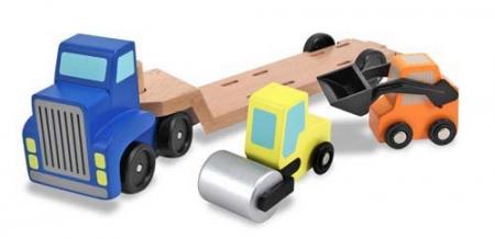 Camion transportor cu platforma cu utilaje de constructii Melissa and Doug [0]