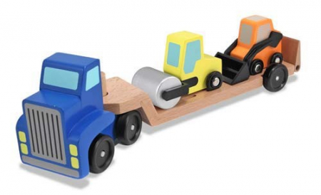 Camion transportor cu platforma cu utilaje de constructii Melissa and Doug [2]