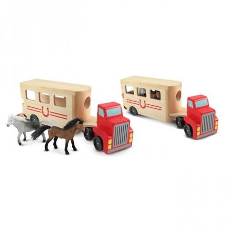 Camion Transportor de Cai cu Remorca Melissa and Doug [1]