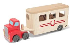 Camion Transportor de Cai cu Remorca Melissa and Doug [0]