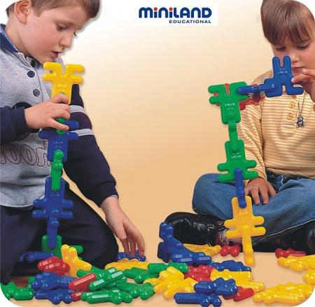 Iepurasi de construit Kim Buni Miniland 74 buc [2]