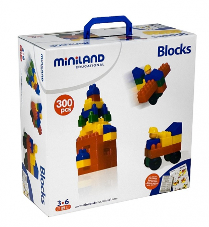 Joc de constructii Caramizi Miniland 300 buc [0]