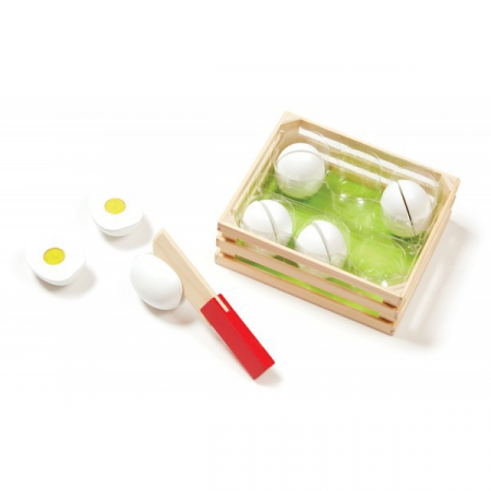 Joc de sortat din lemn Eggs Melissa and Doug [0]