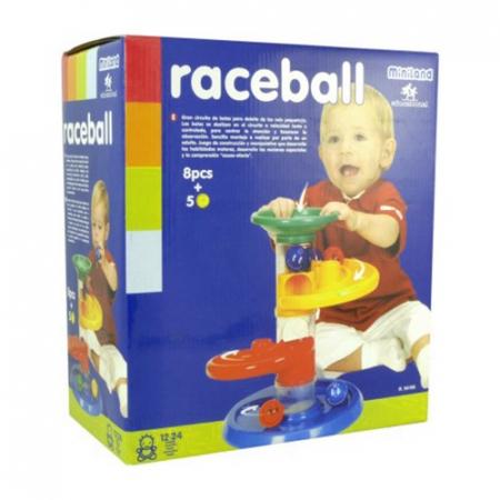Jucarie cursa cu bile pentru bebelusi Miniland [0]