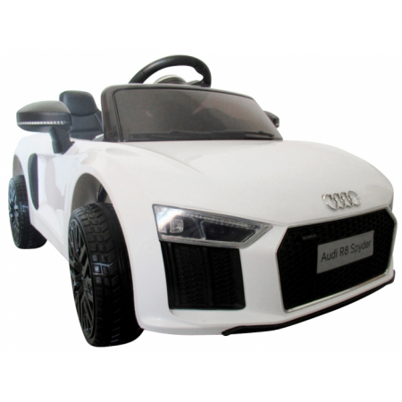 Masinuta electrica cu telecomanda Audi R8 R-Sport - Alb [0]