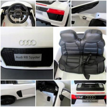 Masinuta electrica cu telecomanda Audi R8 R-Sport - Alb [4]