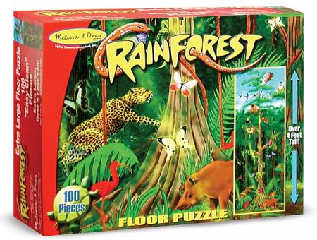 Puzzle de podea Padurea Tropicala 100 pcs - Melissa and Doug [1]
