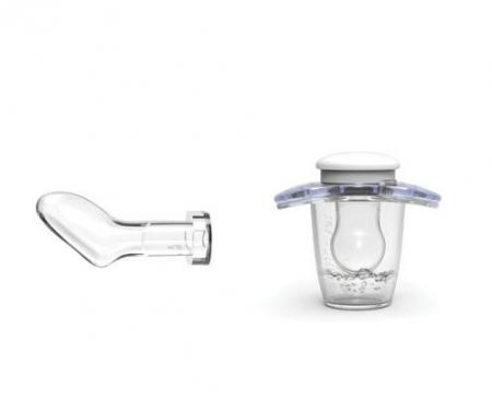 Suzeta orthodontica de noapte cu capac protector 6 luni+ Nuvita [1]