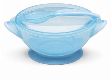 Castron cu capac si lingura - cool blue Nuvita [0]