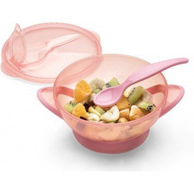Nuvita Castron cu capac si lingura 1421- cool pink [2]