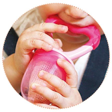 Dispozitiv de hranire si jucarie gingivala - roz - Nuvita [0]