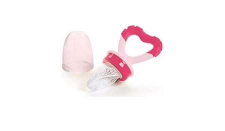 Dispozitiv de hranire si jucarie gingivala - roz - Nuvita [1]