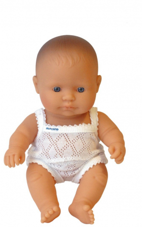Papusa Baby european baiat Miniland 21cm [1]