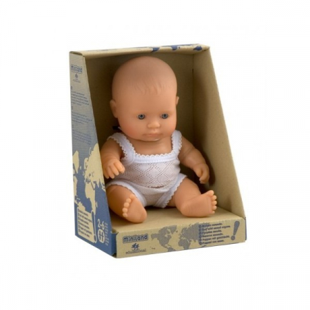 Papusa Baby european fata Miniland 21cm [0]