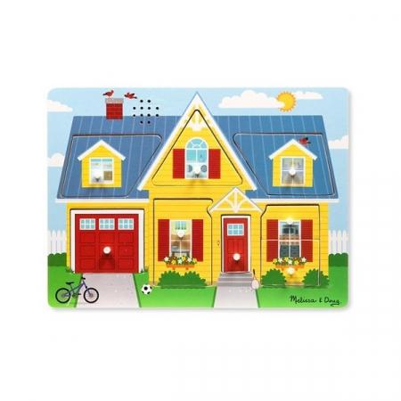 Puzzle cu sunete Casa mea  Melissa and Doug [0]