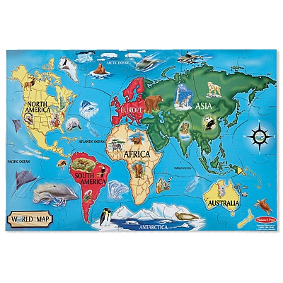 Puzzle de podea Harta Lumii World Map Melissa and Doug [0]