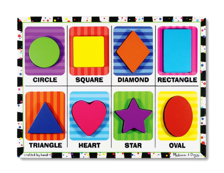 Puzzle lemn in relief Forme geometrice Melissa and Doug [0]