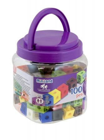 Set 100 cuburi 2 cm - Miniland [0]