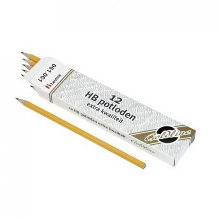 Set 12 creioane Goldline HB din lemn galben - Heutink [1]