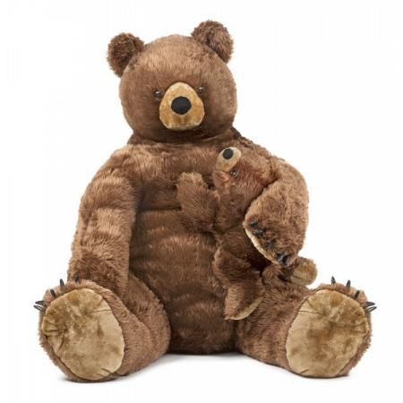 Urs brun cu pui din plus Melissa and Doug [0]
