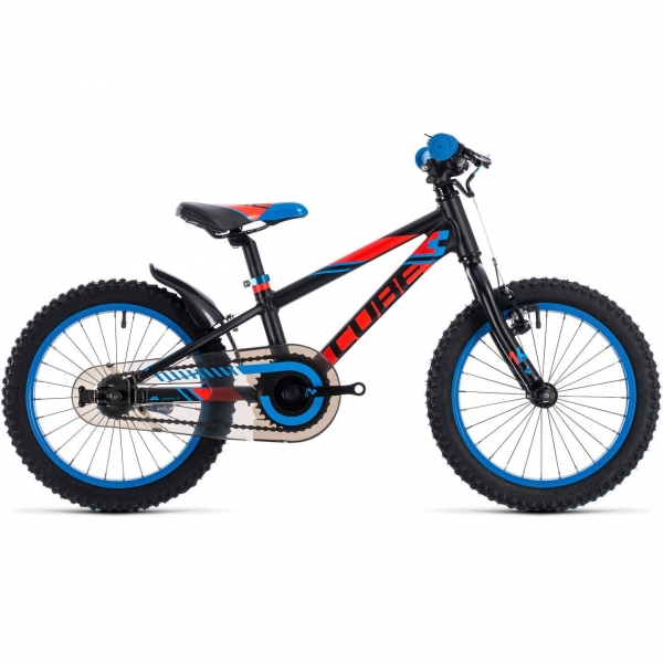 BICICLETA CUBE KID 160 Black Flashred Blue 2018 0