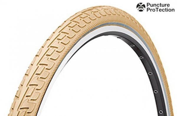 Anvelopa Continental Ride Tour Puncture-ProTection 37-622 28*1 3/8*1 5/8 crem/crem