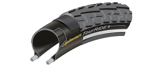 Anvelopa Continental Ride Tour Puncture-ProTection 47-559 (26*1,75)-negru/negru